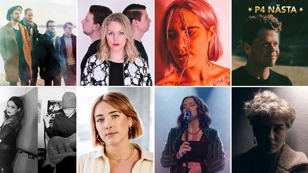Osmička finalistů P4 Nästa 2020